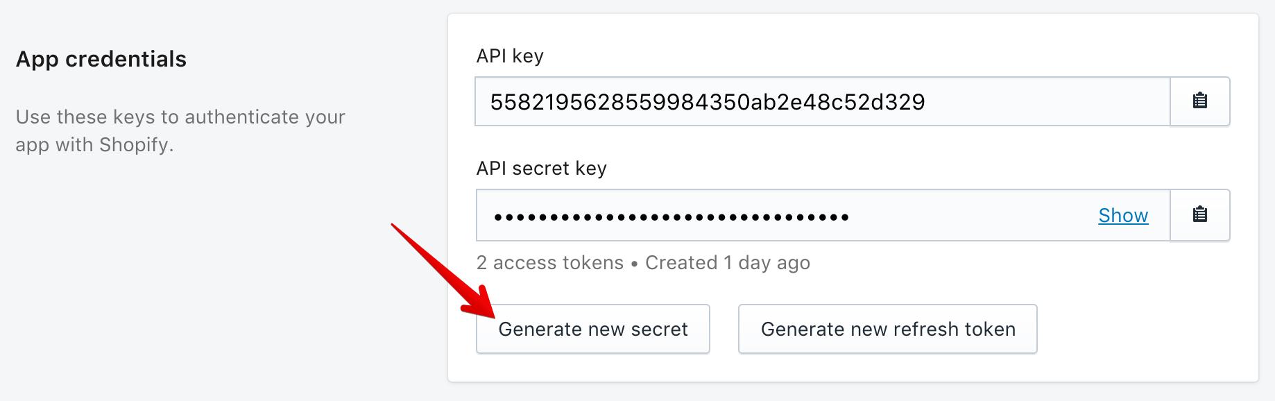 API credential rotation · Shopify Help Center