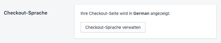 Checkout-Sprache für Shopify