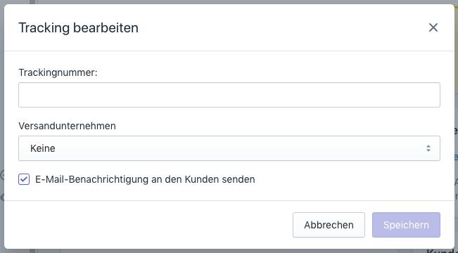 Tracking-URL ausführen