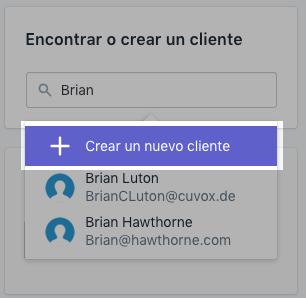 Pedido - crear cliente