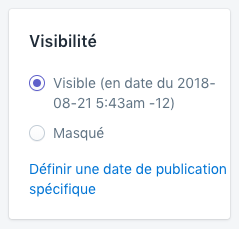 Shopify - créer des pages