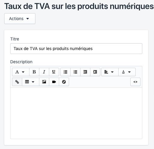 Cliquer sur Add products (Ajouter des produits) pour sélectionner des produits numériques pour une collection