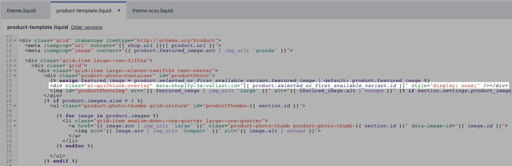 Liquid della foto del prodotto con codice