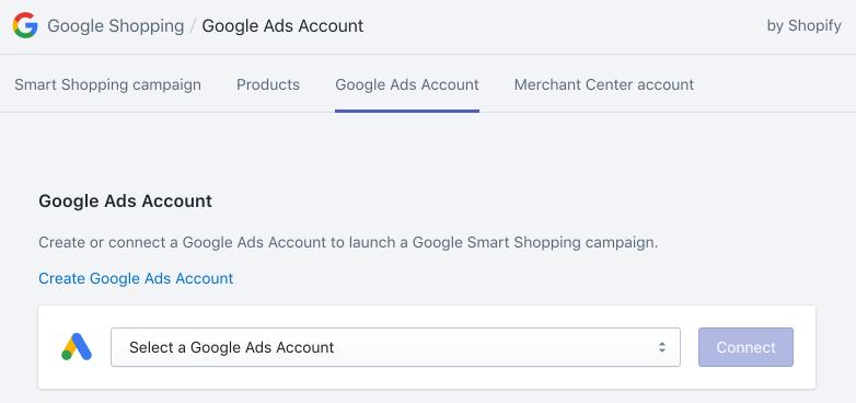 選取 Google Ads 帳戶下拉式選單