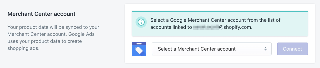 Google Shopping-app met een Google Merchant Center-account