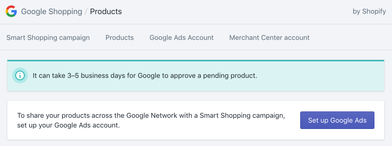 Set up Google Ads button