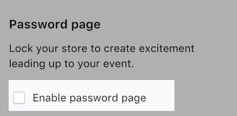 イベントを作成するページの、オンラインストアをロックするセクションのスクリーンショット。