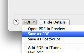 Choose 'Save as PDF'