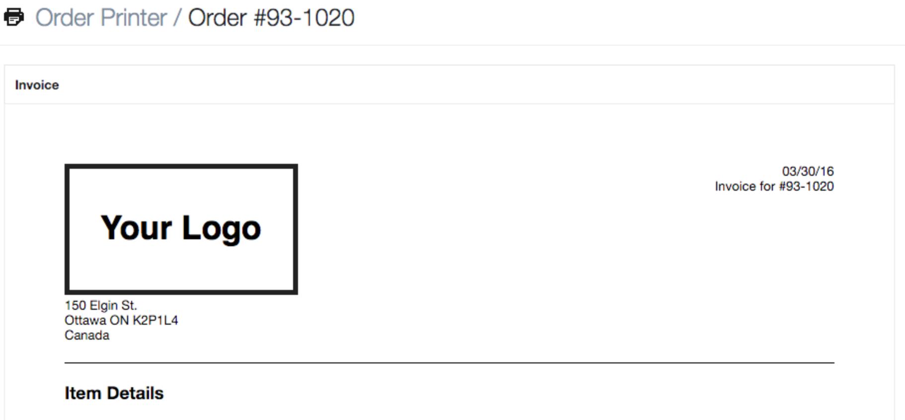 Exemplo de um modelo de e-mail personalizado