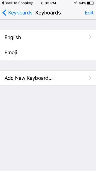 Shopify - Shopkey-Schlüsselwörter