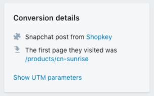 Shopify - shopkey conversion de commande