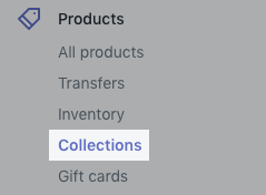 Collection button on desktop