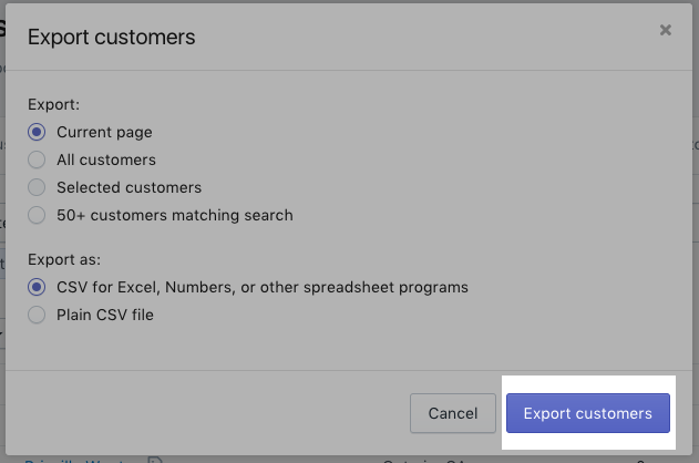 Importing and exporting customer lists · Shopify Help Center