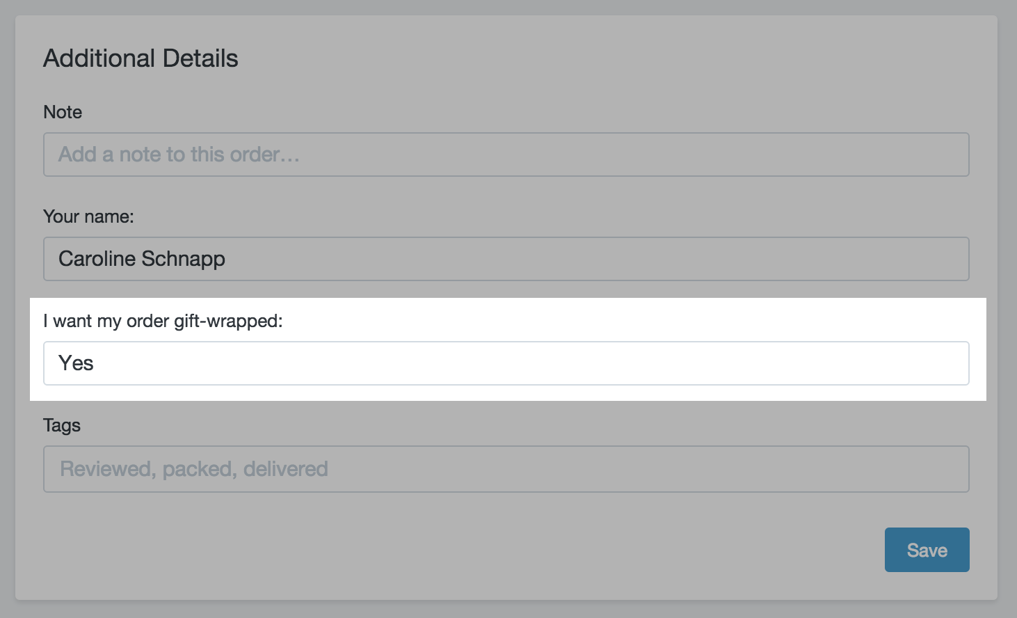 Use cart attributes to collect more information · Shopify Help Center