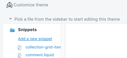 Add new snippet button