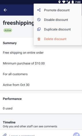 Duplicate discount - android
