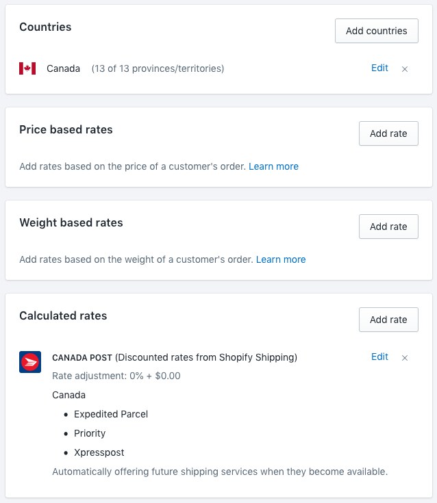 Shipping strategy examples · Shopify Help Center