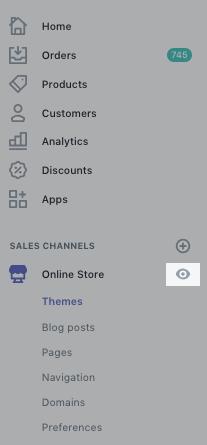 Vista previa de tienda online