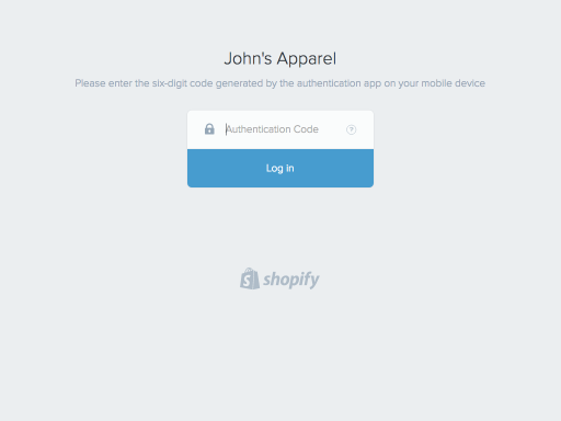 Secure your account with two-step authentication · Shopify Help Center