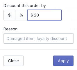 Discount entire order