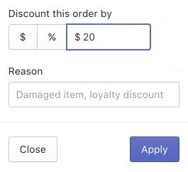 Applica uno sconto sull'intero ordine