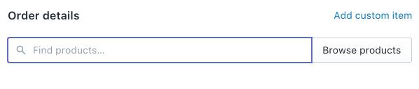 Dettagli ordine preliminare - pannello di controllo Shopify