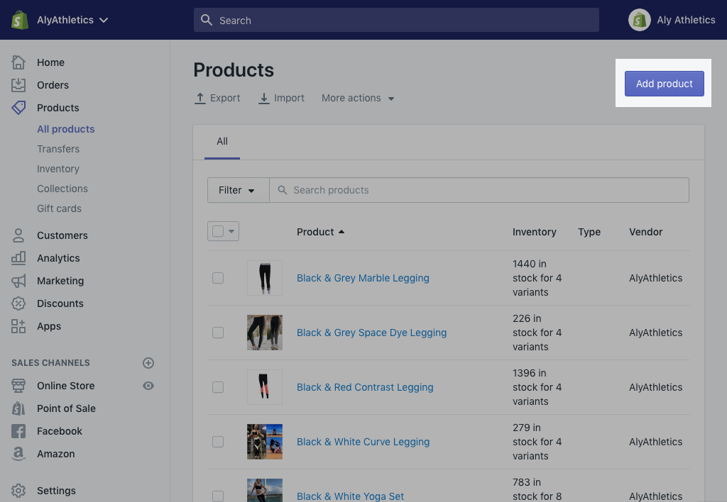 Add product button on desktop