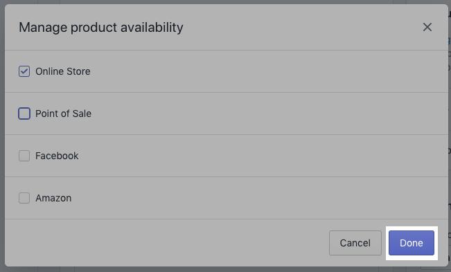 Done button on desktop