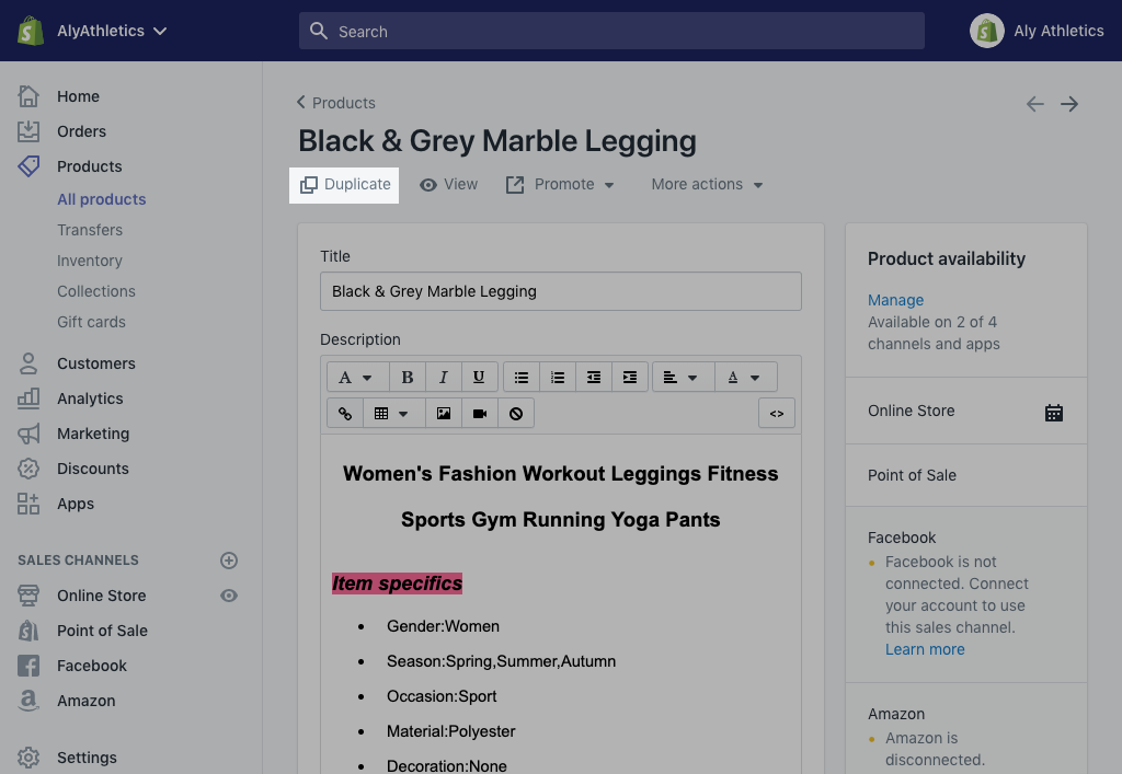 Adding and updating products · Shopify Help Center