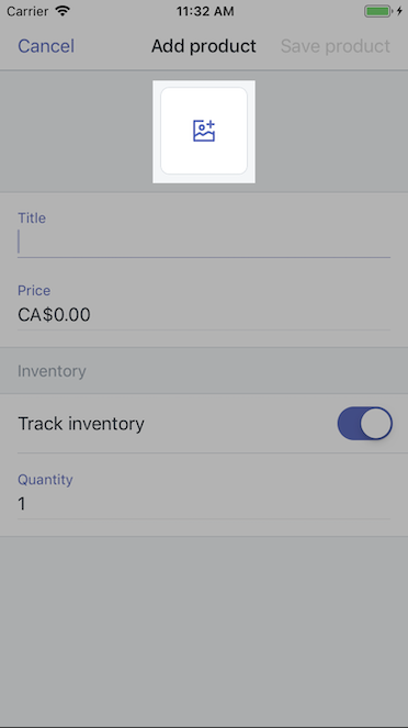 Bild Button – Shopify für iPhone
