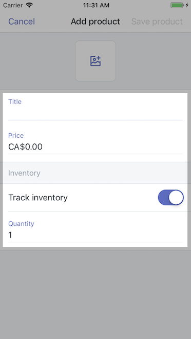 Add product details - Shopify for iPhone
