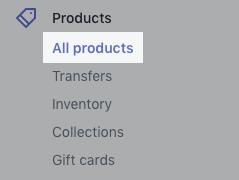 Przycisk Produkty na pulpicie