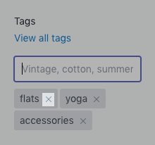 Remove tag button on desktop