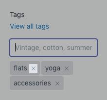 Przycisk Usuń tag na pulpicie
