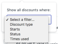 Select a filter