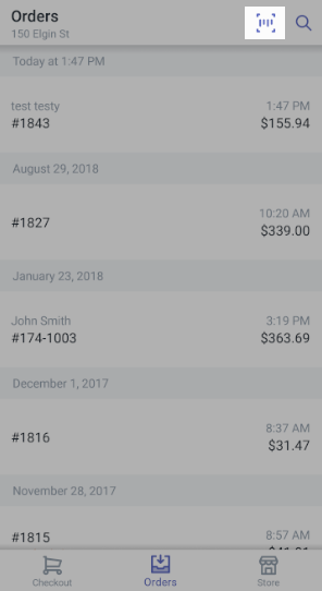 Shopify POS 扫描收据条码 Android