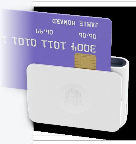 通过 Shopify 芯片式和刷卡式读卡器进行刷卡的信用卡