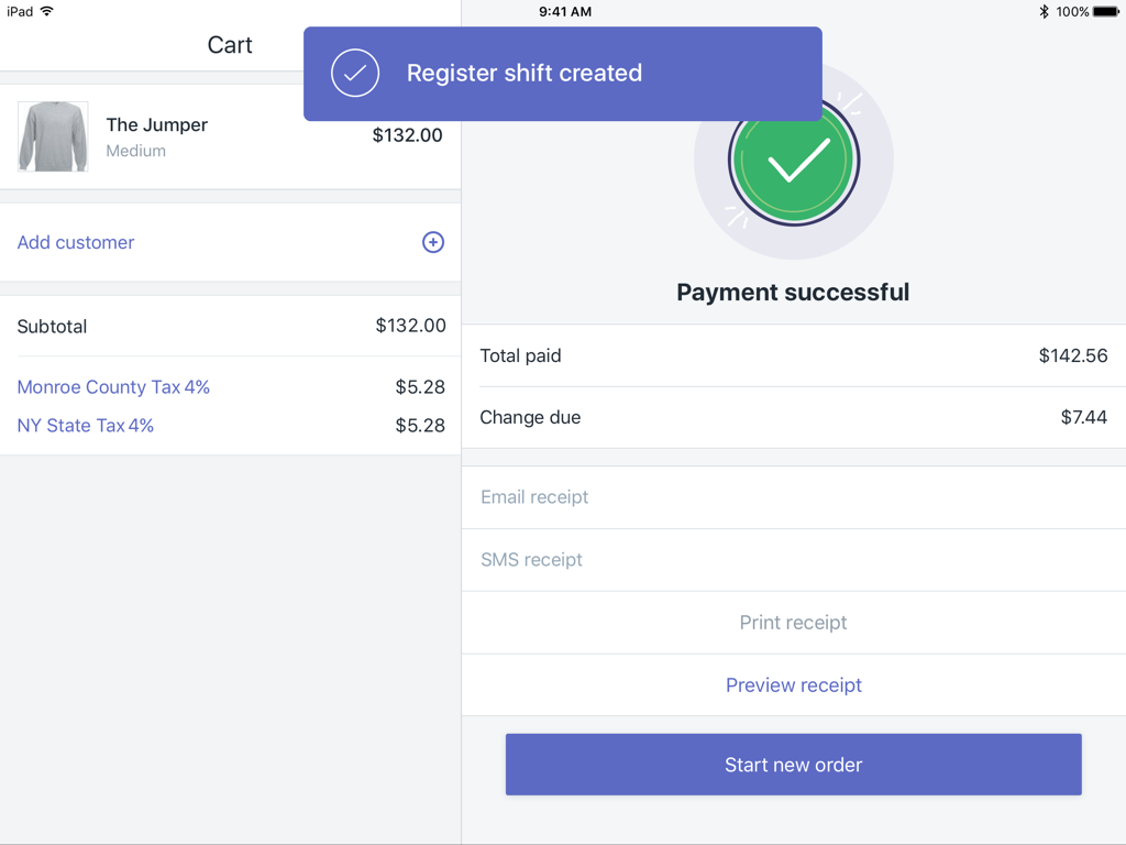 Register shifts · Shopify Help Center