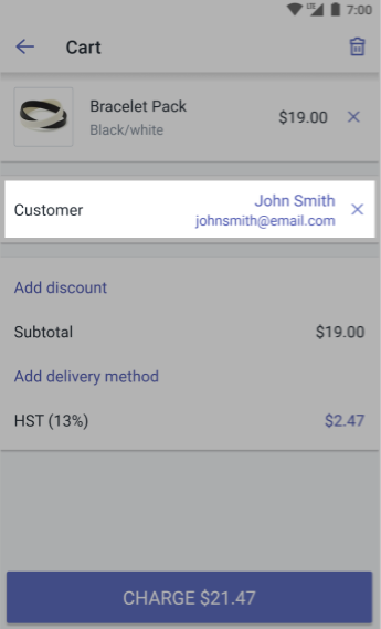 Customer added to cart iPhone — Shopify POS for Android