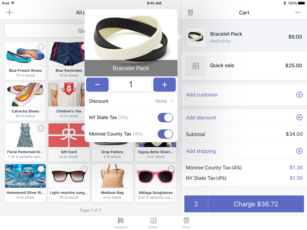 Dialog to edit a product in the cart — Shopify POS for iPad