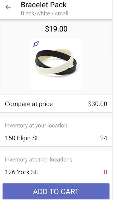 Cuadro de diálogo detalles de producto — Shopify POS para Android
