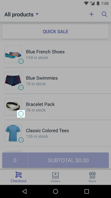 Variants icon on a product – Shopify POS for Android