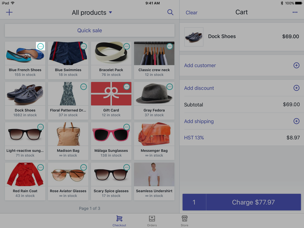 Variants icon on a product —Shopify POS for iPad