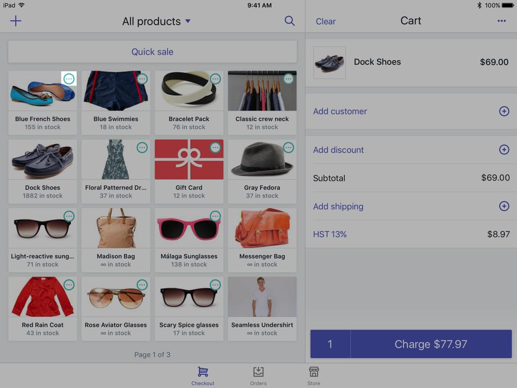 Icono de variantes en un producto —Shopify POS para iPad