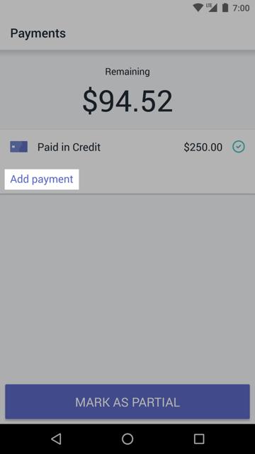 新增付款按鈕 — Android 版 Shopify POS