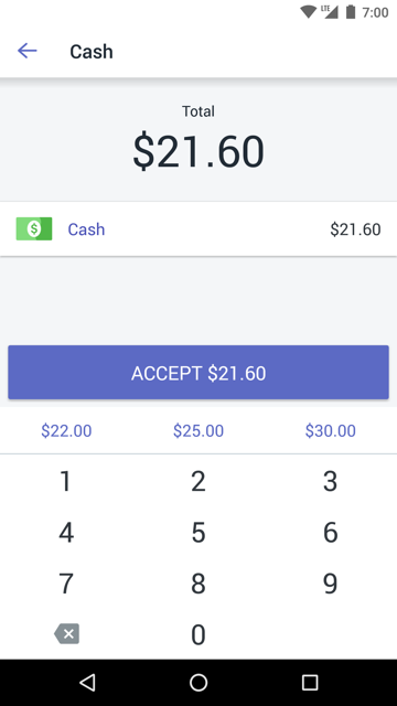 Selecting payment methods at the Shopify POS checkout