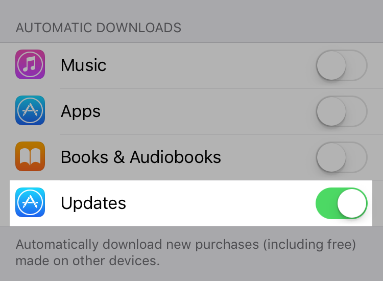 Shopify-app - automatische updates iPhone