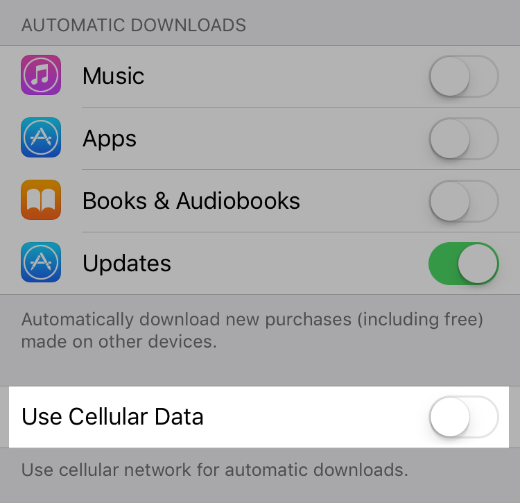 App Shopify - usa dati mobili