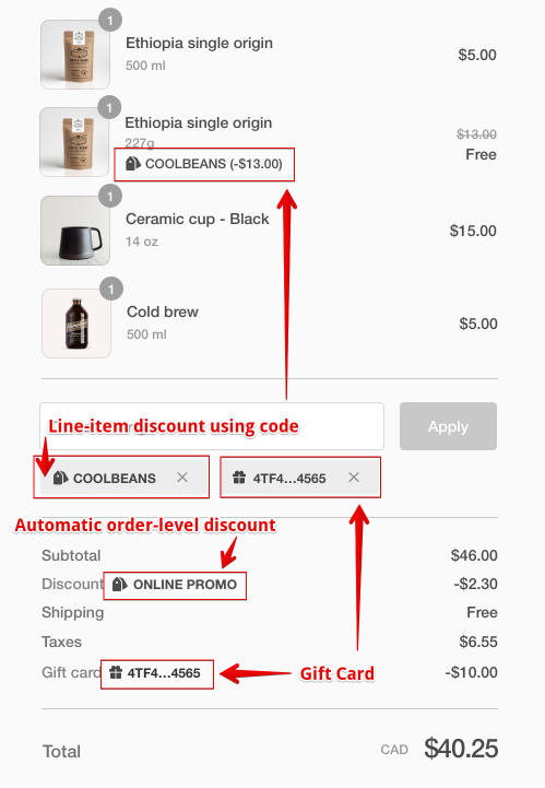 Automatic discount changes