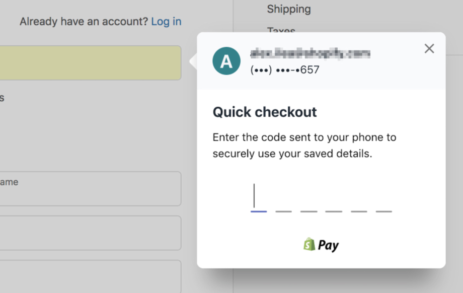 Changes to the Shopify Pay prompt